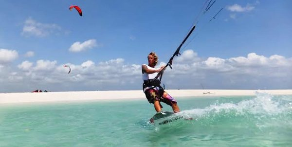 Kite Surfing in diani beach 3